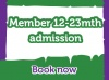 Lemur Landings - School Holiday Session 1 - Members - Child Admission 12 - 23 months old
