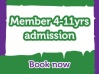Lemur Landings - School Holiday Session 1 - Members - Child Admission 4 - 11 years old